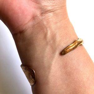 Jewelry - Gold Feather Cuff